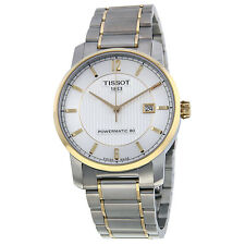 Tissot T-Classic Automatic Silver Dial Two-tone Mens Watch T0874075503700