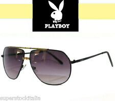 OCCHIALI DA SOLE UOMO DA PLAYBOY VIP AVIATOR SUNGLASSES MODA MOTO BIKER ROCK HOT