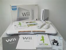 Wii CONSOLE+Wii FIT+52 GAMES AND ACTIVITIES INCLUDING A FREE  YEARS WARRANTY