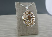 Sterling Silver Oval Celtic Window to the Soul Pendant KEITH JACK Jewelry