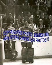HOFer #30 Jacques PLANTE Has LEFT The ARENA w/ PLAGER Blues VICTORY B&W 8X10 WOW
