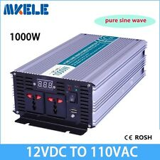 1000W DC12V to AC110V Pure Sine Wave Off Grid Power Inverter LED Display