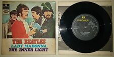 THE BEATLES LADY MADONNA PARLOPHONE ISRAEL The Inner Light UNIQUE ISRAELI COVER
