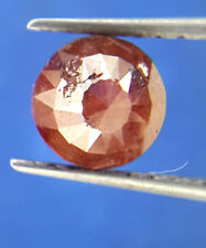 0.92TCW 5.8MM Round Rose cut Red color Africn Loose Natural Rare Antique Diamond