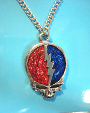 Grateful Dead  Skull   - necklace , pendant  GIFT BOXED