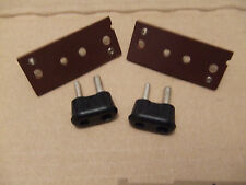 TWO 2 PIN SPEAKER PLUGS AND SOCKETS FOR ROGERS / ARMSTRONG VALVE AMPLIFIER