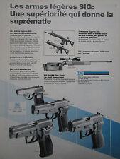 5/1986 PUB SIG FIREARMS SSG 2000 FUSIL PRECISION SNIPER P226 PISTOL FRENCH AD