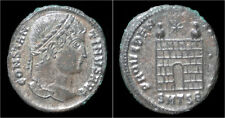 Constantine I silvered AE3 campgate
