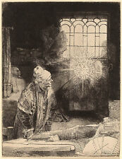 Rembrandt Etching Reproduction: Faust: Fine Art Print