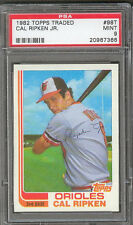 Cal Ripken Jr. Orioles 1982 Topps Traded #98T Rookie Card rC PSA 9 Mint QTY!