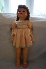 "1950'S Ideal Saucy Walker Doll-21"",Auburn Braids,Original Pink Dress-Crier- SALE"