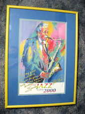 SPIKE ROBINSON JAZZ SAXOPHONE PLAYER SIGNED POSTER IN PROFESSIONAL FRAME