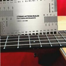 Guitar String Action Gauge Ruler Measuring Luthier Acoustic Electric Bass Guitar