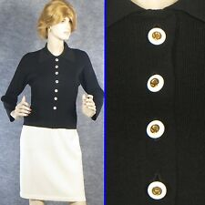 BEAUTIFUL! ST JOHN COLLECTION KNIT BLACK SWEATER JACKET SZ 2 4 EXCELLENT!