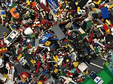 2 lbs Pounds 100% Lego Parts Pieces from GIANT BULK LOT- Bonus MINIFIGURES