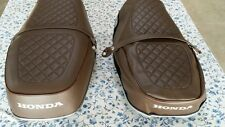 HONDA CB500T 75-76 (BROWN) seat cover  best quality  dyed  logo +strap(H79)