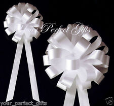 "WHITE WEDDING 8"" PULL PEW BOWS BRIDAL CAKE DECORATION"