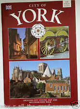 CITY OF YORK Souvenir Travel Guide Book + Map of Town Centre - Shambles Minster