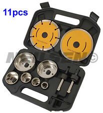11 Pc Diamond Core Hole Saw Drill Bits Blade Set Ceramic Tiles Marble Porcelain