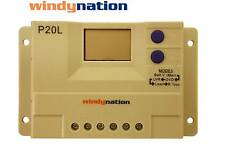WindyNation P20L LCD 20A Solar Panel Regulator Charge Controller 12V 24V