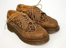 DR. MARTENS Women's Leopard Print Lace Up Shoes EU 36/ US 5/ UK 3
