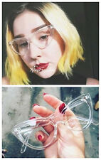 Fashion Transparent Eyeglass Frames Glasses Clear Retro Spectacles Rx able