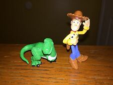 "Disney Pixar Toy Story Figures Cake Toppers Woody & Rex 2"" Tall"