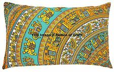 Indian Handmade Elephant Mandala Tapestry Pillow Cover Decor Cushion Case Hippie