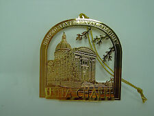 Gold Plated U.S. Naval Academy Chapel  Ornament