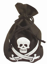 Pirate Pouch Skull & Crossbones Treasure Loot Bag Pirate Fancy Dress Accessory