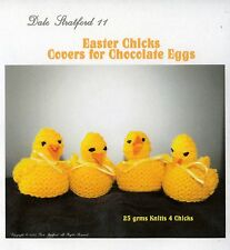 Easter chick covers for chocolate eggs knitting pattern 50p