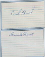 (2) CAMILO PASCUAL INDEX CARD SIGNED 1954-71 SENATORS MINN TWINS PSA/DNA CUBAN