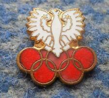 NOC POLAND OLYMPIC MOSCOW LAKE PLACID 1980 SMALL VERSION ENAMEL PIN BADGE
