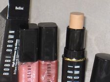 NEW TRAVEL SIZE BOBBI BROWN WARM BEIGE FOUNDATION STICK + NUDE/ROSE SUGAR GLOSS
