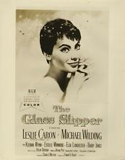 """THE GLASS SLIPPER""-ORIGINAL PHOTO-LESLIE CARON-ONE SHEET POSTER ART"