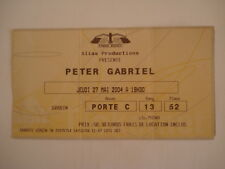 TICKET CONCERT * PETER GABRIEL * GENESIS * PARIS BERCY 2004 ROCK MUSIC