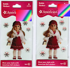 2 New Packs AMERICAN GIRL Bubble Epoxy Stickers! Red Snow Christmas Dress Doll