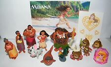 Disney Moana Movie Party Favors Set of 14 with 12 Figures, Fun Ring Tattoo Sheet