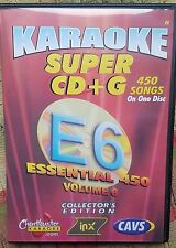 CHARTBUSTER ESSENTIALS KARAOKE SCDG E6, 450 SONGS, CAVS SUPER CD+G