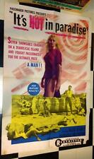 Horrors of Spider Island It's Hot In Paradise Giant Monster Sexy Original 1Sheet