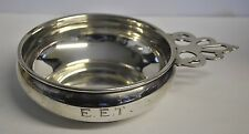 Gorham Sterling Silver Porringer Bowl with Pierced Handle #699 Monogramed