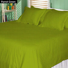 STRIPED BED SHEET SET ALL COLORS & SIZES 1000 THREAD COUNT EGYPTIAN COTTON