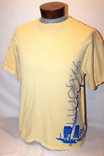 99.1 JOY FM ST.LOUIS RADIO STATION YELLOW CREW T-SHIRT PAIR LARGE AND X-LARGE