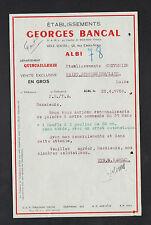"""ALBI (81) QUINCAILLERIE """"Georges BANCAL"""" en 1950"""