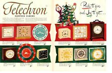 1952 Telechron Electric Clock 12 models detailed PRINT AD