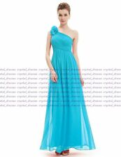 New Chiffon 1 shoulder Formal Ball Gown Evening Party Prom Long Bridesmaid Dress