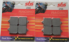 SBS 870 DS 2 Satz Bremsbeläge BMW S 1000 RR a pair of racing brake pads