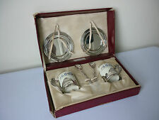 Vintage Highlands silver plate and porcelain espresso or demitasse coffee set