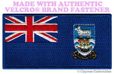 FALKLAND ISLANDS FLAG PATCH UK EMBROIDERED MALVINAS w/ VELCRO® Brand Fastener