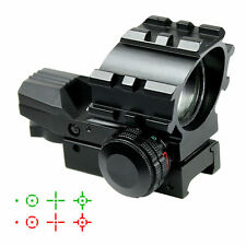 Tactical Holographic 4 Reticles Projected Red Green Dot Reflex Sight Scope Stock